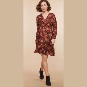 Mimi Surplice Ruffle Hem Wrap Maternity Dress